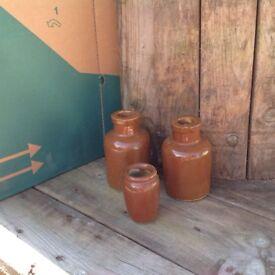 Three little jars