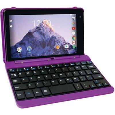 """RCA Voyager Pro 7"""" 16GB Tablet with Keyboard Android 6.0, Purple"""