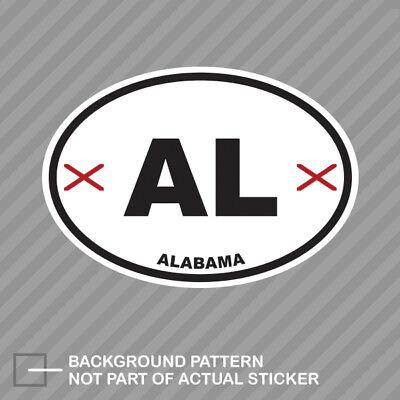 Alabama State Flag Oval Sticker Decal Vinyl AL Alabama Oval Sticker Decal