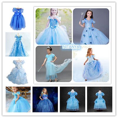 Hot Sandy Princess Cinderella Cosplay Costume Kids Girls Party Fancy Dress Gown - Hot Princess Costumes