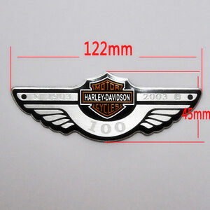 HD 100th anniversary badge Emblem Sticker Harley Davidson DYNA SPORTSTE Touring