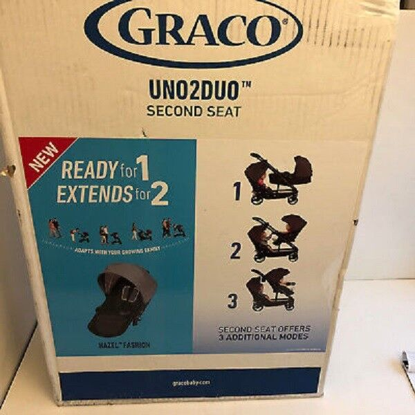 NEW - Graco Uno2Duo Stroller Second Seat, Add on - Hazel Col