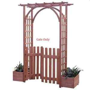 FSC Fir Gate for Fuchsia Garden Arch Wooden Outdoor Patio Decor Trellis Archway
