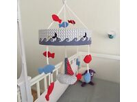 Whale bay cot mobile