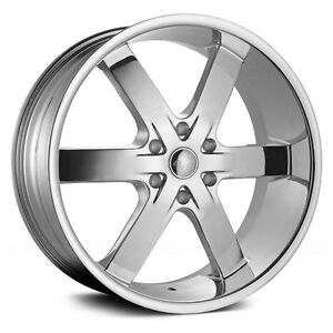 "NEW! 26"" CHROME rim/tire chevy 1500 escalade tahoe yukon"