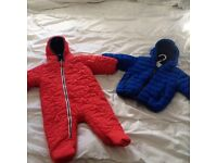 Snowsuit and winter jacket