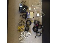 Misc Electronics - Cordless Phone, Chargers, Cables - take it all!