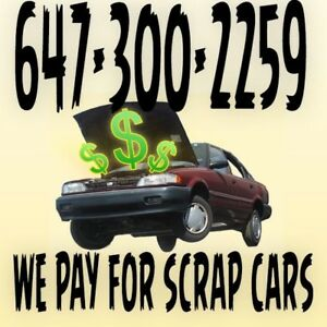 PAYING HIGHEST CASH FOR OLD USED SCRAP JUNK CARS.