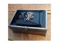 Beautiful vintage decorative box with vintage jewellery.