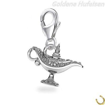 Aladdin Wunderlampe Charm / Anhänger 925 Echt Silber Aladin Geschenkidee ch-071