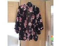New Look floral wrap/jacket, size 8