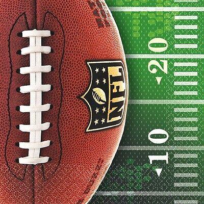 NFL Football Beverage Napkins-16 count. 2-PLY-NEW - Football Napkins