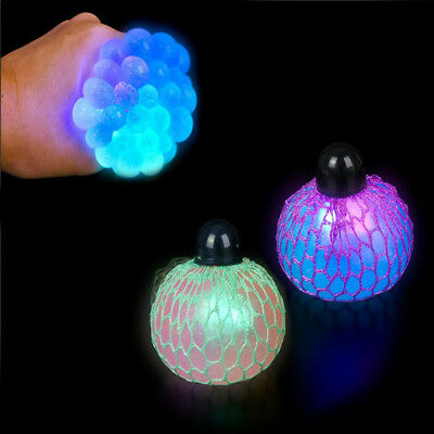 1 Light up Squishy Mesh sensory stress reliever ball toy autism squeeze fidget (Sensory Toy Ball)