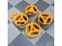 4x100 wheels alloys 3 spokes (not BBS, split wheels, compomotives, dare rs)
