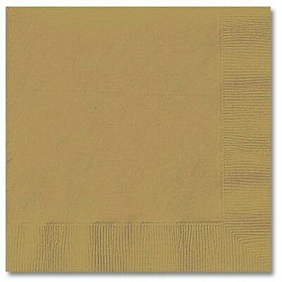 GOLD (50) LUNCHEON LUNCH DINNER PAPER NAPKINS Party Supplies!! For Any Party!