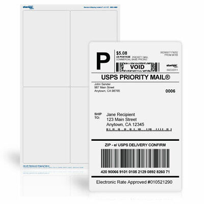 Stamps Dot Com 4 X 6 12 Shipping Labels Printingshipping Labels 250 Sheets
