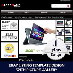 ebay template listing templates design html template 6 color. Black Bedroom Furniture Sets. Home Design Ideas