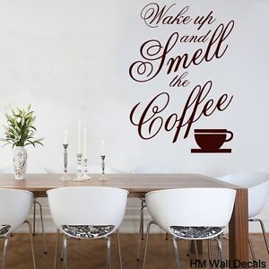 Wall-Quote-Vinyl-Decal-Wake-up-and-smell-the-coffee-for-your-home-or-cafe