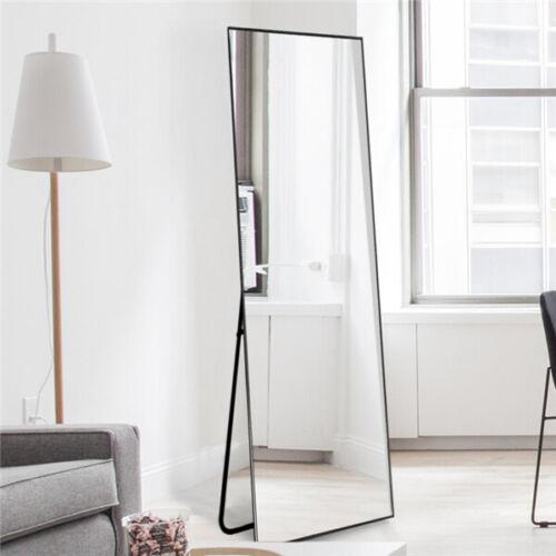 Metal Mirror Floor Free Standing Full Length Modern Home Dec