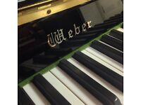 Weber upright piano - black