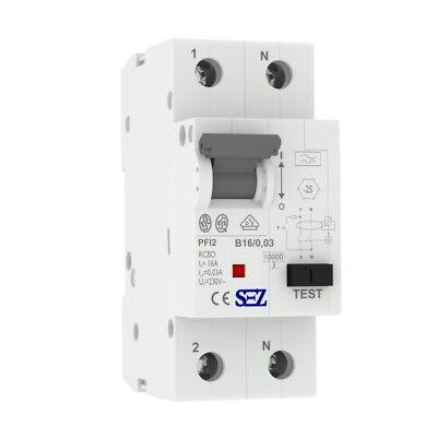 B16A 30mA 2p 10kA Rcbo VDE Dispositivo de Corriente Diferencial