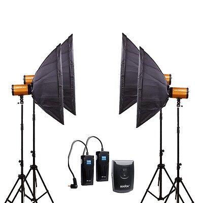 Pro GODOX 1200W 4*300SDI Photography Studio Strobe flash Light stand softbox Kit