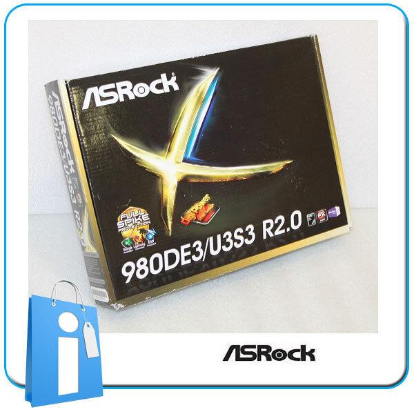 Motherboard ATX 770 ASRock 980DE3/U3S3 R2.0 Socket AM3 with Accessories