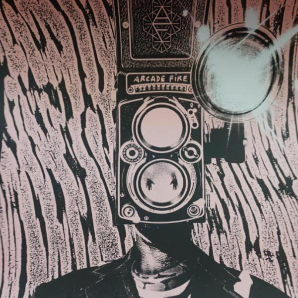 Arcade Fire - 2014 Rob Jones poster print Reflektor Tour PINK Silent Giants