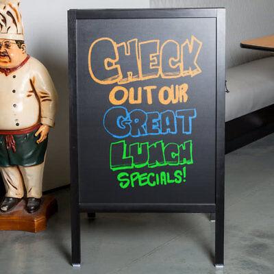 A-frame Restaurant Cafe Chalkboard Sidewalk Sign - Black Wood - 25 X 42