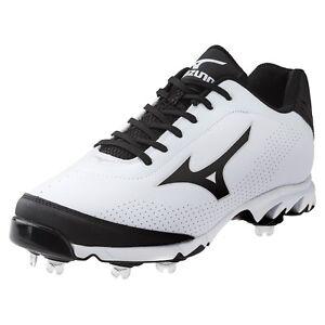 best sneakers d3323 6ba49 Mizuno 9 Spike Vapor Elite 7 Low Mens Metal Baseball Cleats White ...