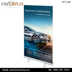 DXP Display offers on Retractable banner stand with Graphics