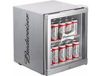 budweiser mini beer can or wine fridge paid £115 asking £50