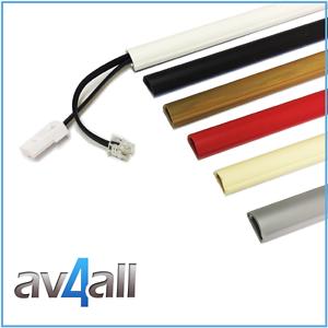 d line 16x08 micro tv cable cover wire hide trunking 25cm 50cm 75cm 90cm dline ebay. Black Bedroom Furniture Sets. Home Design Ideas