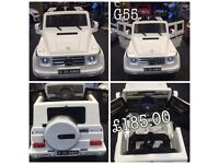 Mercedes G55, Parental Remote, Self Drive, Ride-On Opening Doors Rubber Tyres