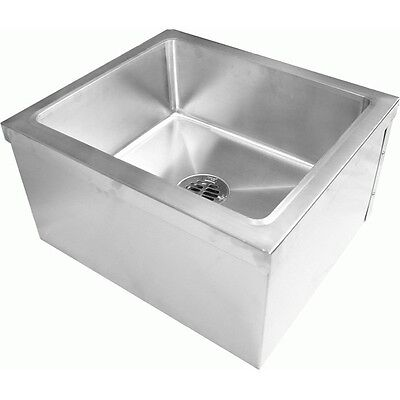 Stainless Steel Floor Mount Mop Sink 20w X 24l X 14h Se2024fm
