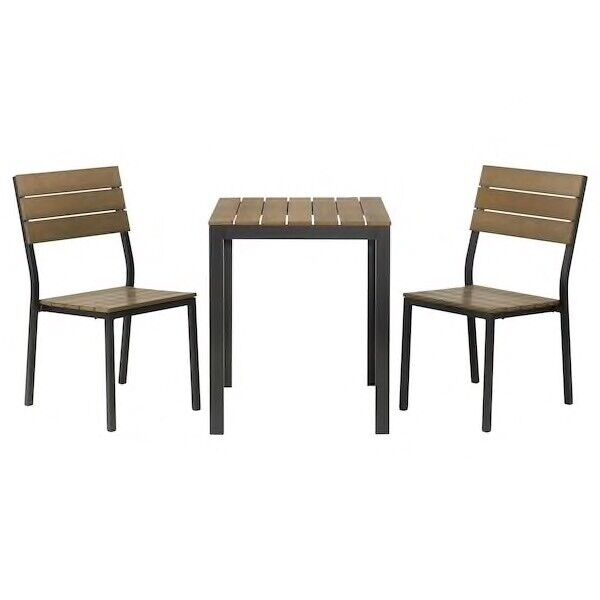 Stupendous Falster Ikea Table And 2 Chairs Black Brown Garden Balcon Table Like New In Islington London Gumtree Download Free Architecture Designs Aeocymadebymaigaardcom