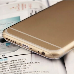 NEW THIN CLEAR SILICONE SOFT COVER CASE FOR IPHONE 6 SNAP ON