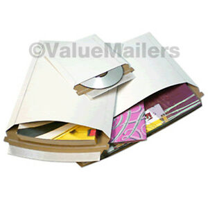 200-6x6-RIGID-PHOTO-CD-MAILERS-ENVELOPES-STAY-FLATS