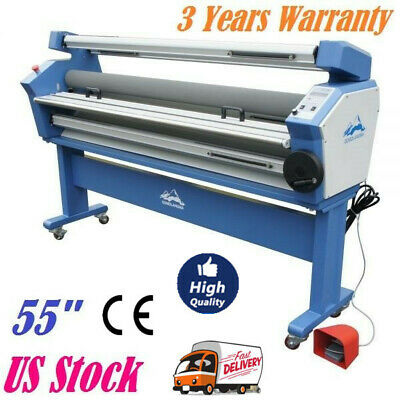 Us 1400mm 55 Full-auto Low Temp Wide Format Cold Laminator With Heat Assisted