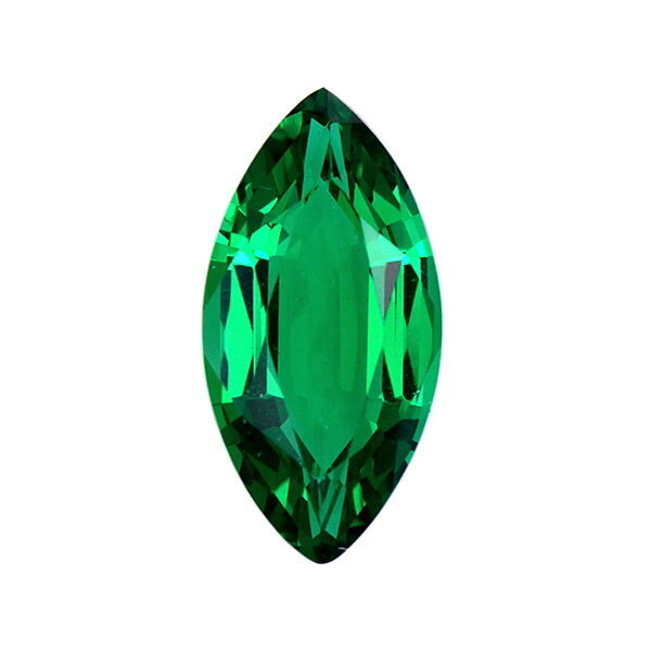 Lab Created Hydrothermal Emerald Green Marquise Faceted Loose Stone (4x2-18x9mm)