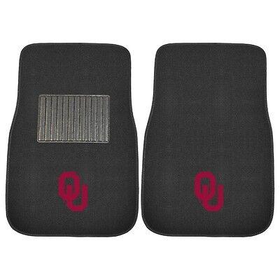 Oklahoma Sooners 2 Piece Embroidered Car Auto Floor Mats (Oklahoma Sooners Floor)