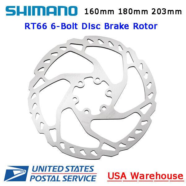 Shimano Deore SLX SM-RT66 Disc Brake 6-Bolt Rotor 160mm 180mm 203mm MTB