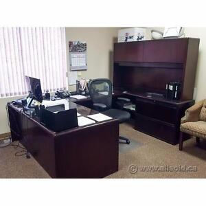 Assortment of L-Suite, U-Suite, and Executive Desks Priced to Move $400-$750