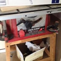 skill saw 12 inch table saw and assessories