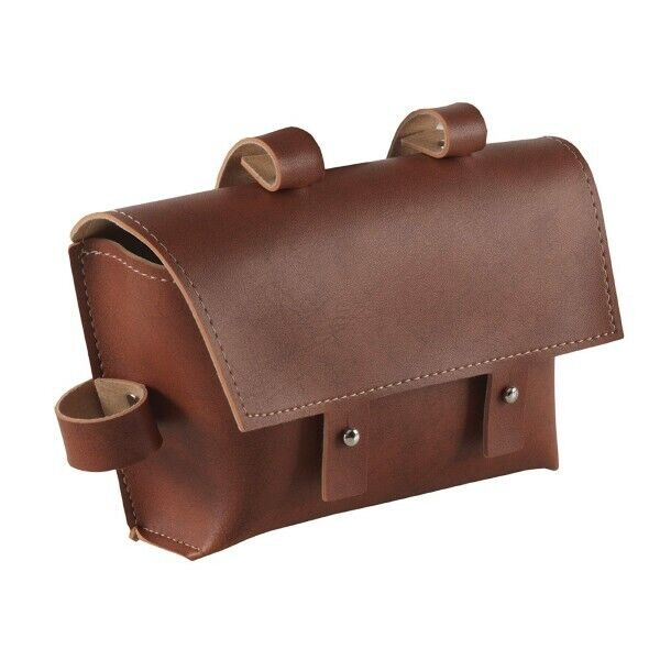 588020977 - Bag Fixed To Frame IN Faux Leather Brown For Bicycle