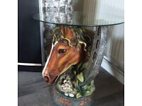 Collectible horse head table