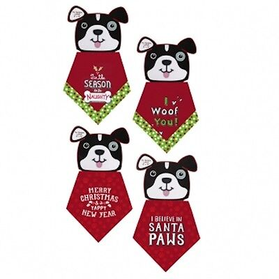 Dog Christmas Bandana Sizes Small & Large - choose your style