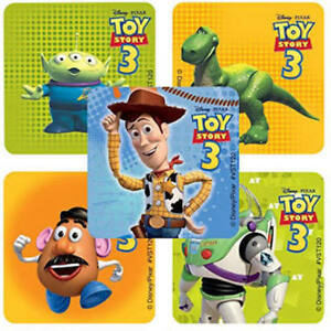 25 Toy Story 3 Characters Stickers Party Favor Teacher Supply Woody Buzz Rex