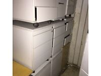 8 X pedestals under desk drawers in different colours. Delivery