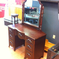 solid wood antique make up table